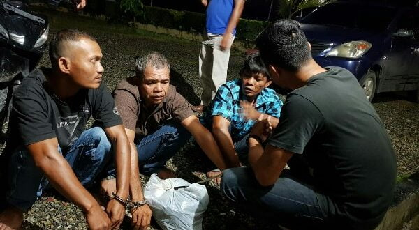 Aparat Polsek Ranah Batahan tangkap 3 dari 4 pelaku pemerasan dan pencabulan NH di kebun sawit Jorong Taming Nagari Batahan