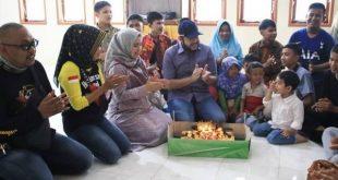 HUT ke 32, Fadly Amran Pilih Berbaur Dengan Anak yatim