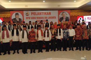 Pelantikan pengurus Gebu Minang di Jakarta