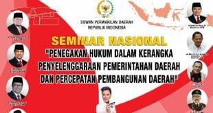 DPD RI Gelar Seminar Cegah KKN pada Penyelenggaraan Pemda