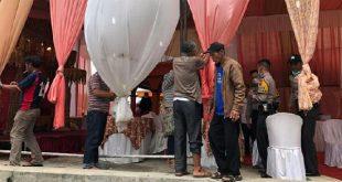 Polres Padang Panjang membubarkan pesta pernikahan yang berlangsung di Jorong Tabu Baraie Kecamatan X Koto Kabupaten Tanahdatar. (foto ist - spirit sumbar)