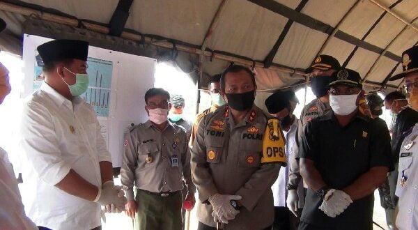 Kapolda Sumbar dan Unsur Pemerintahan Dharmasraya Tinjau Perbatasan