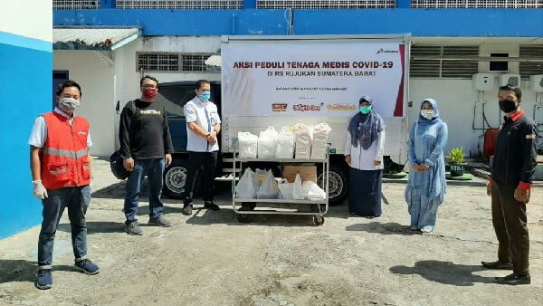 Bantu RS Rujukan Sumbar, Bright Gas Gandeng D'besto dan Sate Manangkabau