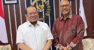 Ketua DPD RI AA LaNyalla Mahmud Mattalitti dan Duta Besar LBBP RI untuk Mexico Cheppy T. Wartono
