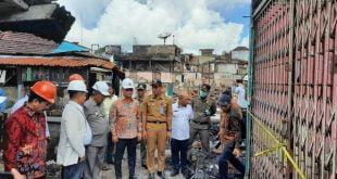Komite II DPD RI meninjau lokasi kebakaran di Pasar Batu, Kota Tarakan, Kalimantan Utara