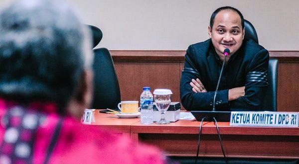 Wakil Ketua Komite I DPD RI, Fachrul Razi dalam Rapat Dengar Pendapat Umum