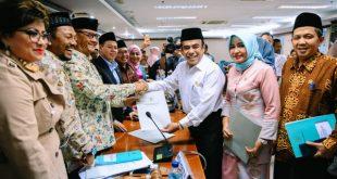 Ketua Komite III DPD RI Bambang Sutrisno saat RDP dengan Menteri Agama Fachrul Razi di Gedung DPD RI, Jakarta, Senin (10/2/2020).