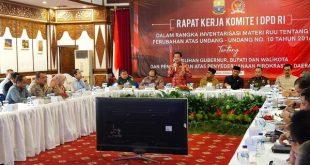 Komite I DPD RI melakukan kunjungan kerja di Provinsi Jambi, sejak Senin, 3 Pebruari 2020