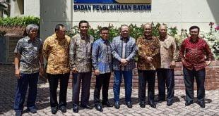 La Nyalla beserta rombongan diterima Wakil Kepala BP Batam Purwiyanto, di Gedung BP Batam, Jalan Jenderal Sudirman, Batam Center, Kota Batam, Rabu (5/2/2020)
