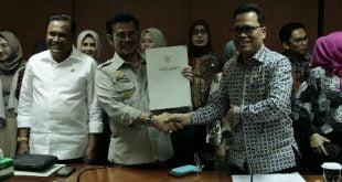 Wakil Ketua Komite II DPD RI Abdullah Puteh saat Rapat Kerja dengan Menteri Pertanian Syahrul Yasin Limpo di Gedung DPD RI, Jakarta, Senin (24/2/2020)