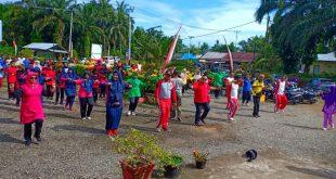 warga di Ranah Batahan ikuti kegiatan gerakan masyarakat hidup sehat