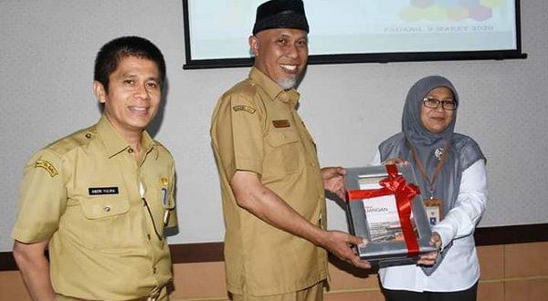 Walikota Mahyeldi serahkan LKPD pada BPK RI Perwakilan Padang
