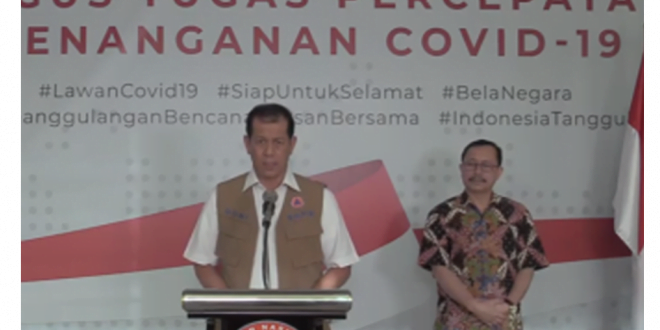 Kepala BNPB Letjen TNI Doni Monardo (foto covid19)