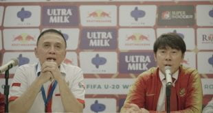 Ketua Umum PSSI, Mochamad Iriawan bersama Pelatih Timnas Indonesia, Shin Tae-yong