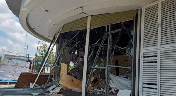 Kondisi Ramayana Medan yang meledak, Rabu 25, Maret 2020