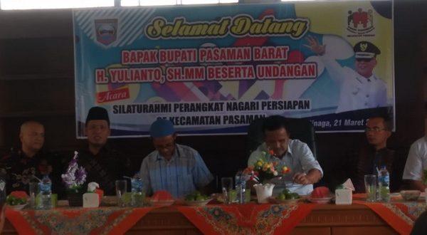 Silaturrahmi nagari persiapan se Kecamatan Pasaman, Kabupaten Pasaman Barat