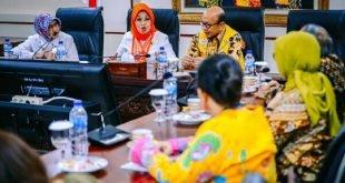 Anggota DPD RI Provinsi DKI Jakarta Sylviana Murni saat menerima Pengurus Pusat Perhimpunan Ahli Epidemiologi Indonesia (PAEI) di Nusantara III Komplek Parlemen, Jakarta, Kamis (12/3/2020)
