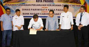Disparbud Kota Padang dan Bank Nagari Tandatangani PKS E – Retribusi.