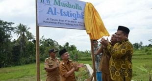 Wawako Hendri Septa Resmikan Mushalla Al Istighfar Taruko Rodi.