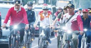 Launching Gerakan Bersepeda ke Kantor Bagi ASN