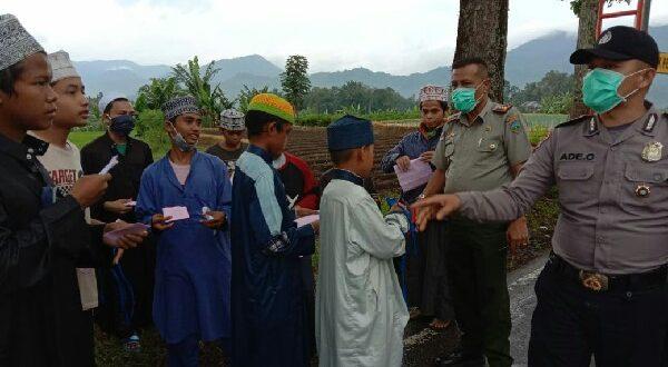 Para santri di posko 1 Kacangkayu Padang Panjang.( foto: tim)