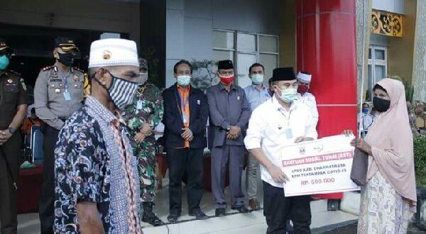 Pemkab Dharmasraya Mulai Salurkan BST Kabupaten dan BST Kemensos