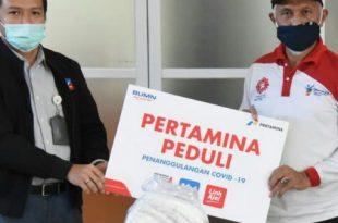 Pertamina serahkan Bantuan APD pada Walikota Padang