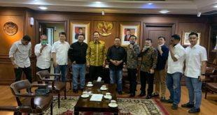 Pengurus SMSI bersama Wakil Ketua DPR RI, Azis Syamsudin
