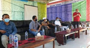 Kunjungan Kerja Komisi I DPRD Sumbar ke Nagari Taram, Kec. Taram, Kab. Limapuluh Kota, saat memantau pelaksanaan BLT Dana Desa, penanganan Covid-19 di nagari, dan Realisasi Nagari Adat