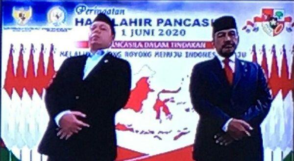 Nono Sampono menghadiri Peringatan Hari Lahir Pancasila secara virtual di Gedung Nusantara III, Kompleks Parlemen Senayan, Jakarta