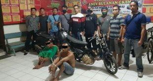 Dua pelaku curanmor berhasil di tangkap Tim Gabungan Satuan Unit Reskim Polres Dharmasraya