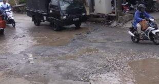 kondisi jalan di Lareh Sago Halaban