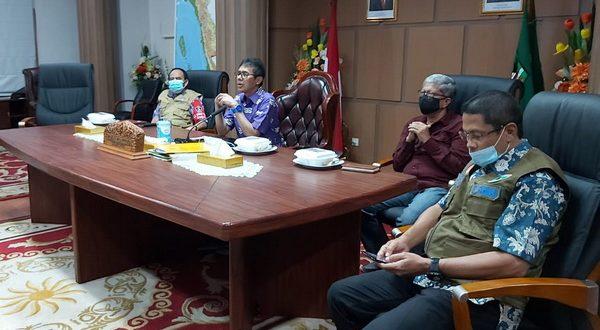 Gubernur Sumbar saat vidcom dengan kepala BNPB