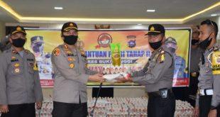 Menyambut Hari Bhayangkara Ke 74  Polres Bukittinggi Salurkan Bantuan Sosial