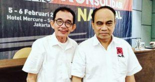 Ketua Umum Projo, Budi Arie Setiadi bersama Ketua Projo Sumbar, Muhammad Husni Nahar