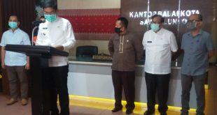 Walikota Sawahlunto gelar jumpa pers terkait covid19