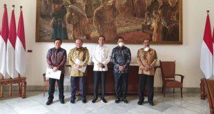 Pimpinan DPD RI bersama Presiden Jokowi