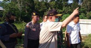Wakil Gubernur Sumbar Nasrul Abit Tinjau Ruas Jalan di Padang Sawah - Kumpulan dan meninjau lokasi Batang Masang, Nagari Limo Koto, Kecamatan Bonjol