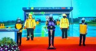 Peresmian Jalan Tol Pekanbaru - Dumai