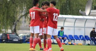 Selebrasi David Maulana dan kawan-kawan usai mencetak gol