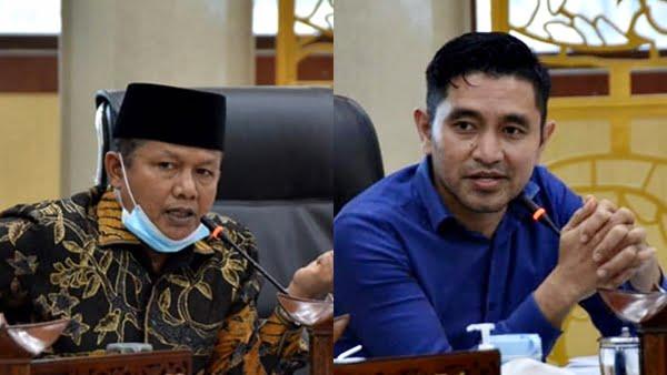 Wakil Ketua DPRD Padang Panjang, Yuliar Kaisar (kiri), dan Imbral (kanan)