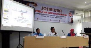 Sosialisasi Pemilihan Gubernur/ Wakil Gubernur Sumbar di Padang Panjang