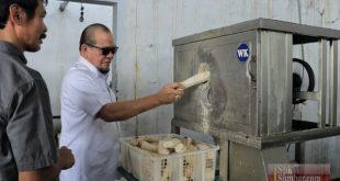 AA LaNyalla Mahmud Mattalitti mencoba penggunaan mesin tepat guna pemotong singkong