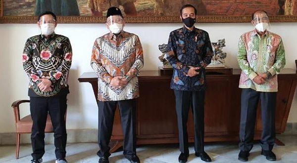 Pimpinan DPD RI bersama Presiden Joko Widodo