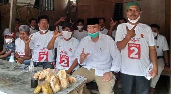 Menampung aspirasi perkumpulan ojek se kota pariaman untuk memenangkan Na-Ic sebagai gubernur sumatra barat 22-10-2020