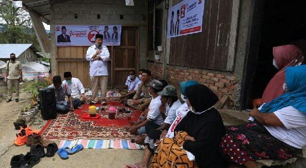 Calon Gubernur Sumatra Barat Nasrul Abit, bertemu dan berdiskusi dengan Warga Balun, Nagari Pakan Rabaa, Kecamatan Sangir, Kabupaten Solok Selatan. (Dok : TM Pemenangan NA-IC)