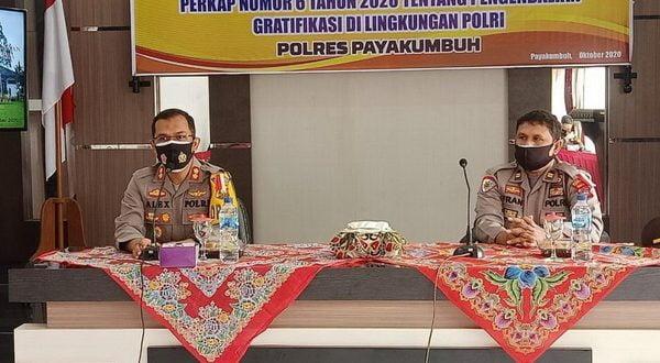 Kegiatan Sosialisasi Perkap Nomor 6 Tahun 2020 Tentang Pengendalian Gratifikasi di Lingkungan Polri Polres Payakumbuh