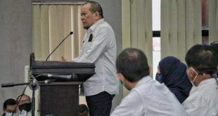 Ketua DPD RI AA LaNyalla Mahmud Mattalitti melakukan kunjungan ke pameran INAPRO Expo 2020, yang digelar KADIN Jawa Timur di Grand City Surabaya