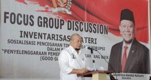 Ketua DPD RI, AA LaNyalla Mahmud Mattalitti. Saat menjadi Keynote Speaker dalam FGD bersama KPK di Kabupaten Way Kanan, Lampung