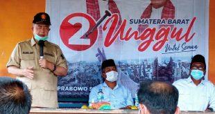 Nasrul Abit, melakukan safari politik di beberapa titik di Kota Padang